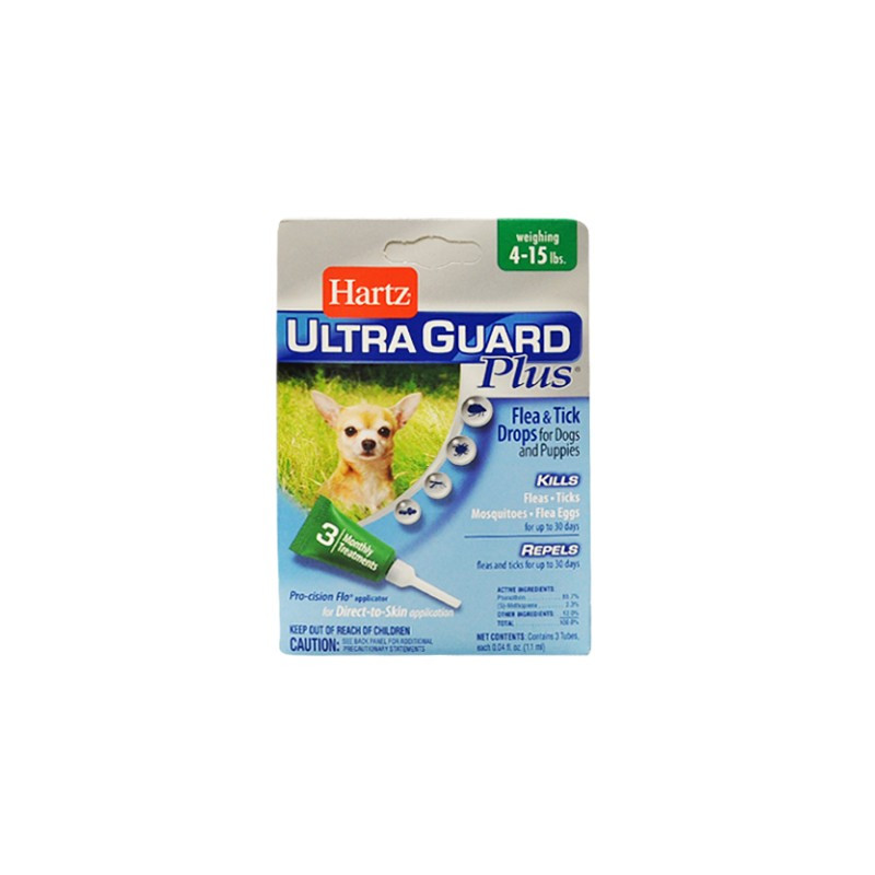 Hartz UltraGuard Flea & Tick Drops for Dogs & Puppies до 7 кг