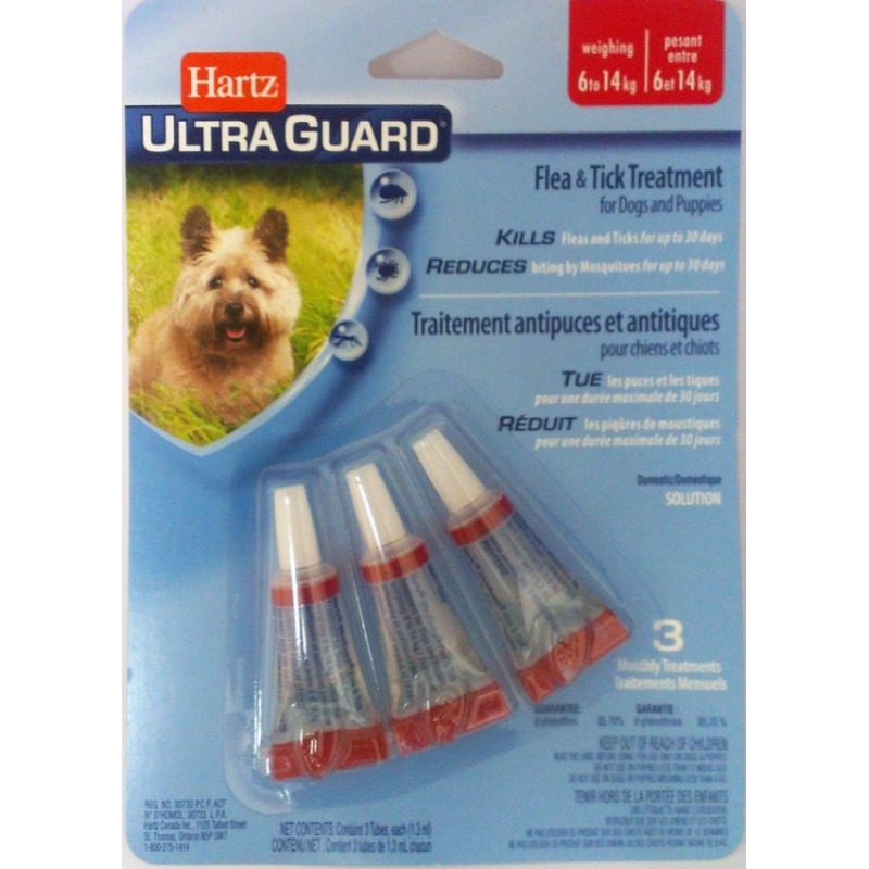 Hartz UltraGuard Flea & Tick Drops for Dogs & Puppies до 13 кг