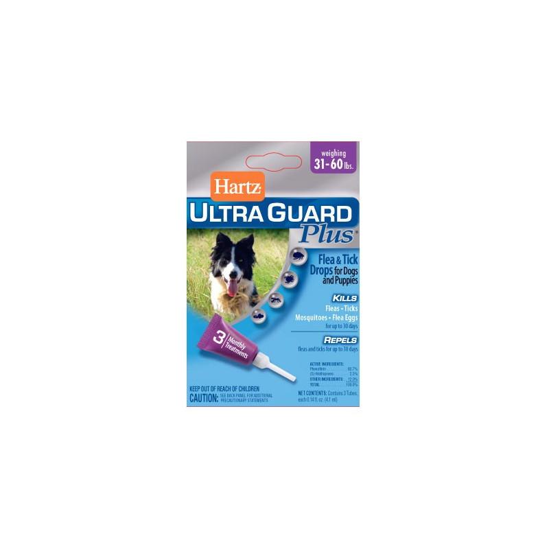 Hartz UltraGuard Plus Flea & Tick Drops for Dogs & Puppies до 27 кг