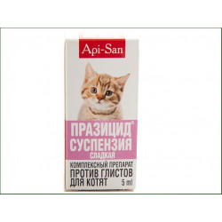 Api San Празицид-суспензия препарат против глистов для котят
