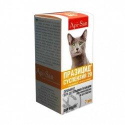 Api-San Празицид-суспензия препарат против глистов для кошек