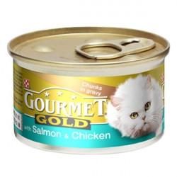 Gourmet Gold с лососем и курицей