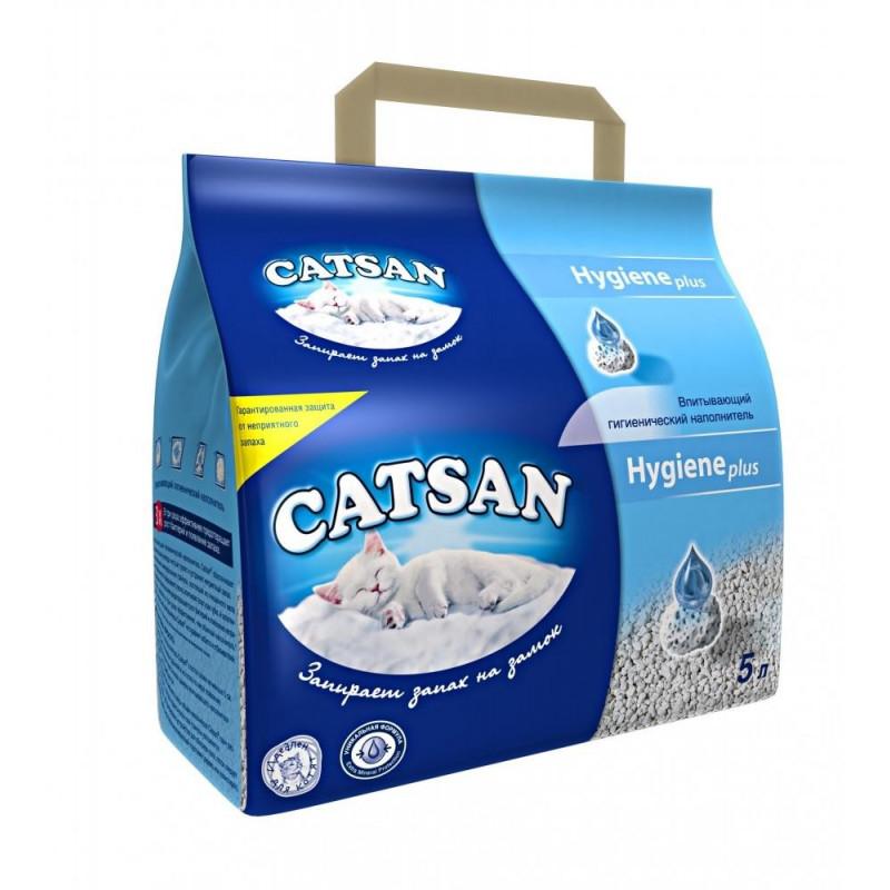 Catsan HYGIENE plus Впитывающийся наполнитель для кошачьих туалетов