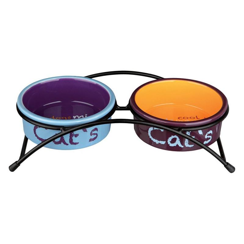 Trixie Colour Cat Миска керамика с подставками