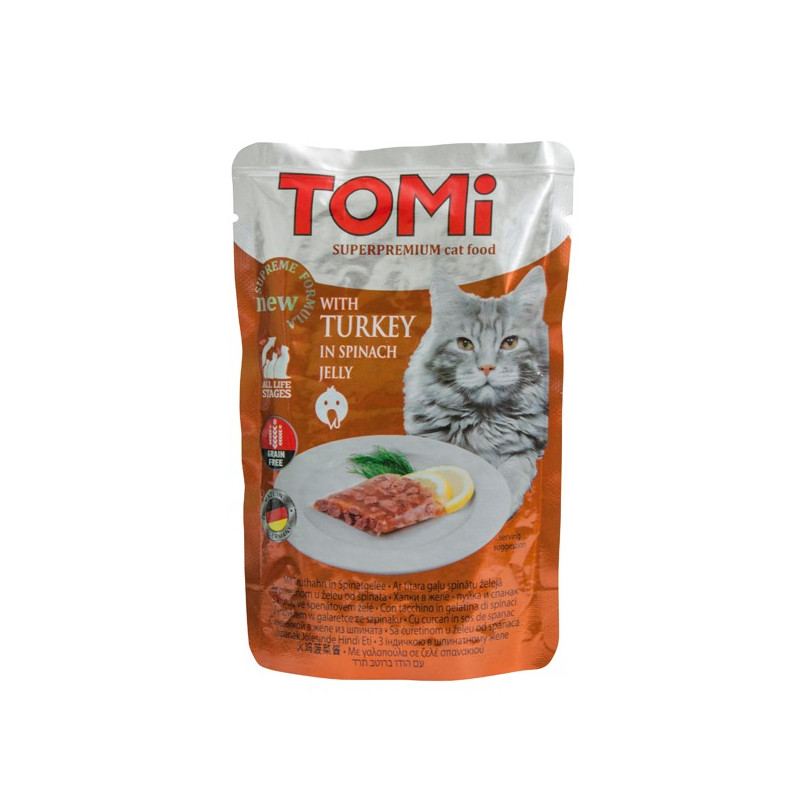 TOMi TURKEY in spinach jelly