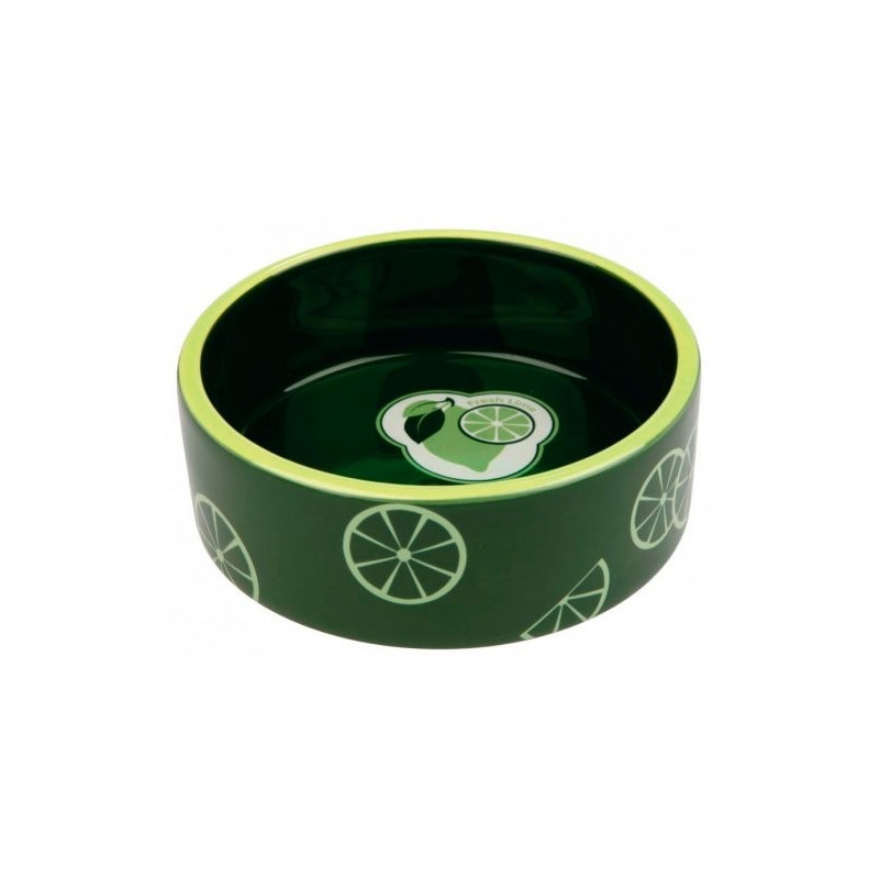 Керамическая миска Trixie Fresh Fruits зеленая