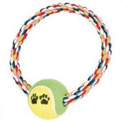 Trixie Мяч теннисный на веревочном ринге