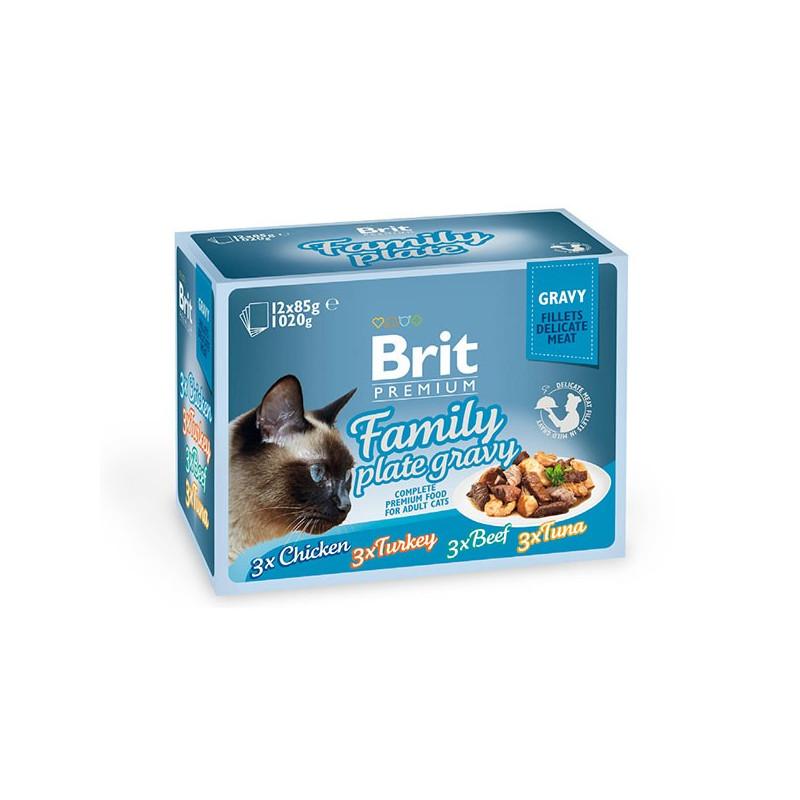 Brit Premium Family Plate Gravy Набор консерв