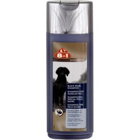 8in1 Шампунь «Черный жемчуг» для собак темных окрасов