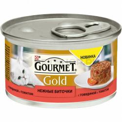 Gourmet Gold Нежные биточки с говядиной и томатом