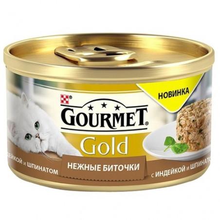 Gourmet Gold Нежные биточки с индейкой и шпинатом
