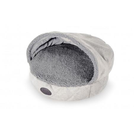 Лежак с капюшоном Cover Silver