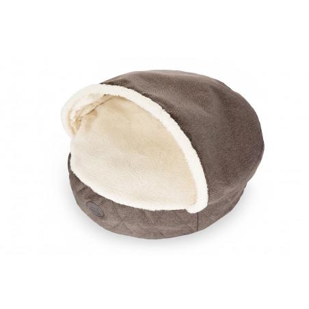 Лежак с капюшоном Cover Brown