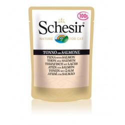 Schesir консервы для кошек Тунец с Лососем