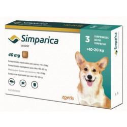 Simparica таблетка от блох и клещей для собак 10-20 кг
