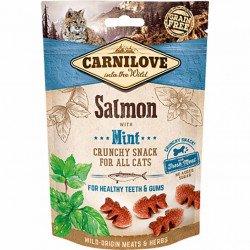 Лакомство для кошек Carnilove Cat Crunchy Snack лосось, мята