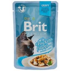 Brit Premium Кусочки из куриного филе в соусе
