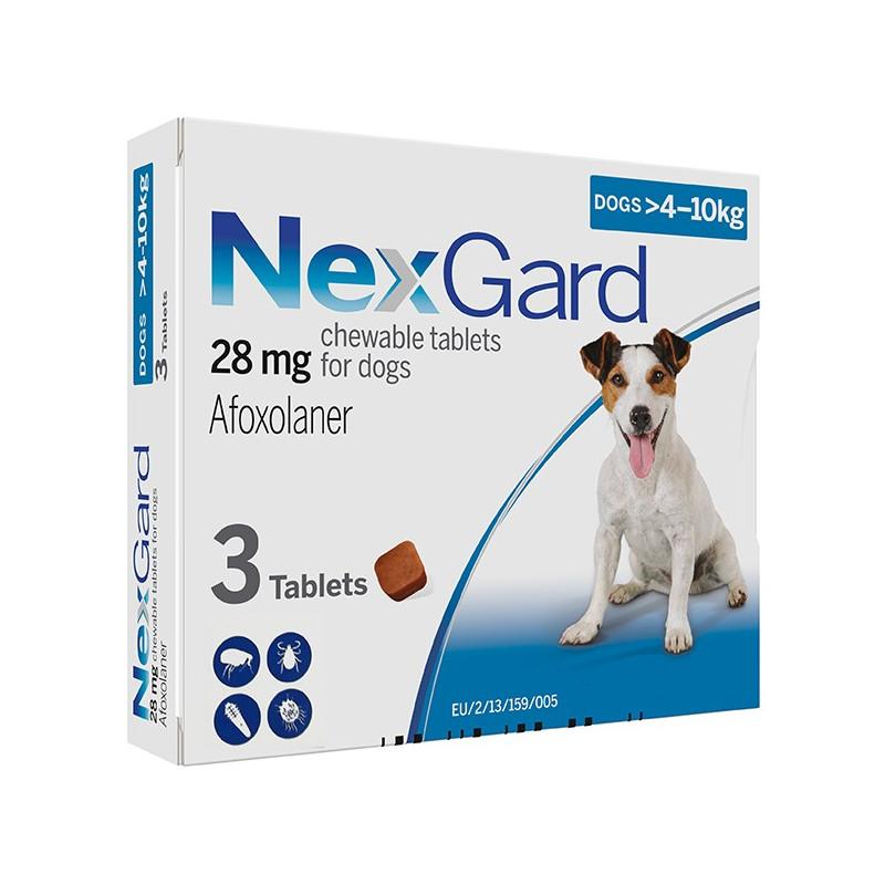 NexGard от блох и клещей от 4 до 10 кг.