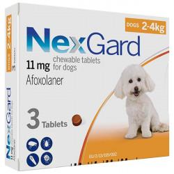 NexGard от блох и клещей от 2 до 4 кг