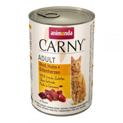 Animonda Carny Adult Rind, Huhn+Entenherzen