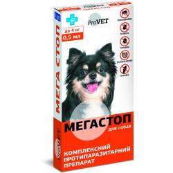 ProVET Мега стоп от внешних и внутренних паразитов для собак до 4 кг